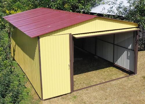 garaż z blachy